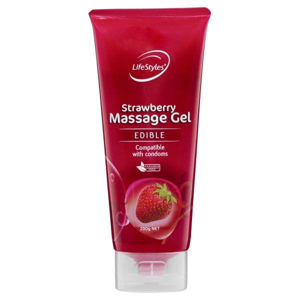 LifeStyles Strawberry Massage Gel 200g 3