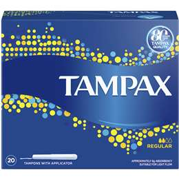 Tampax Pearl Regular Light Flow tampons with plastic applicator 20 Pack 3
