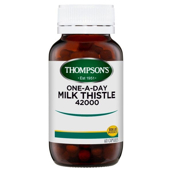 Thompson's One-a-day Milk Thistle 42000mg 60 Caps 3