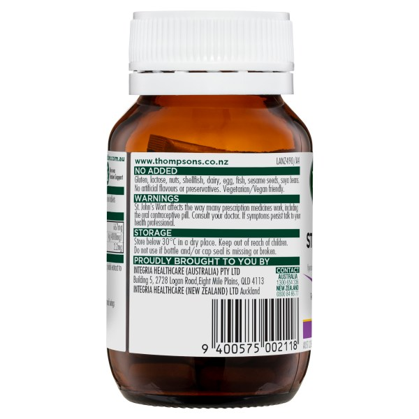 Thompson's One-a-day St John's Wort 4000mg 60 Tabs 5