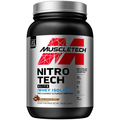 MUSCLETECH Nitro-Tech Elite 100% Whey Isolate 28 Servings 820g
