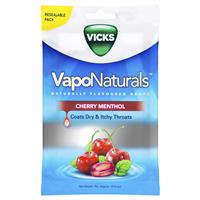 Vicks Vaponaturals Cherry Menthol Throat Lozenges 19 Drops