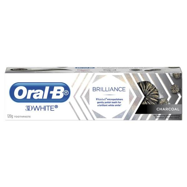 Oral B Toothpaste 3D White Brilliance Charcoal 120g 3