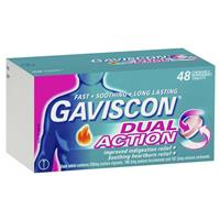 Gaviscon Dual Action Tablets for Heartburn and Indigestion 48 Tablets