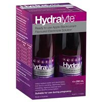 Hydralyte Electrolyte Apple Blackcurrant Solution 4x250ml 3
