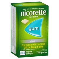 105 Pieces Nicorette Strength Chewing Gum 2mg
