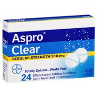 Aspro Clear Pain Relief 24 Soluble Tablets 3