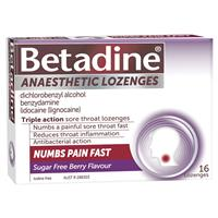 Betadine Anaesthetic Berry Flavour 16 Pack 4