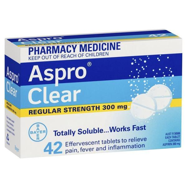 Aspro Clear Pain Relief 42 Soluble Tablets 3