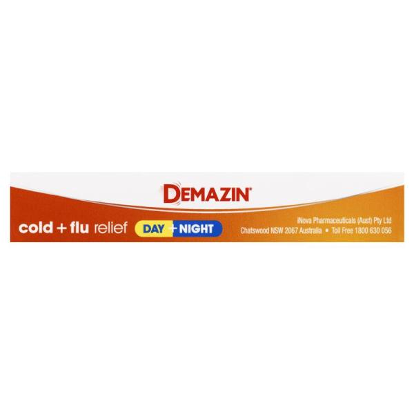 Demazin Cold & Flu Relief Day + Night 24 Tablets 7