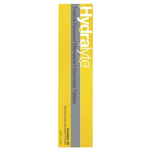 Hydralyte Effervescent Tropical 20 Tablets 11