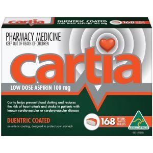 Cartia 168 Tablets 100mg