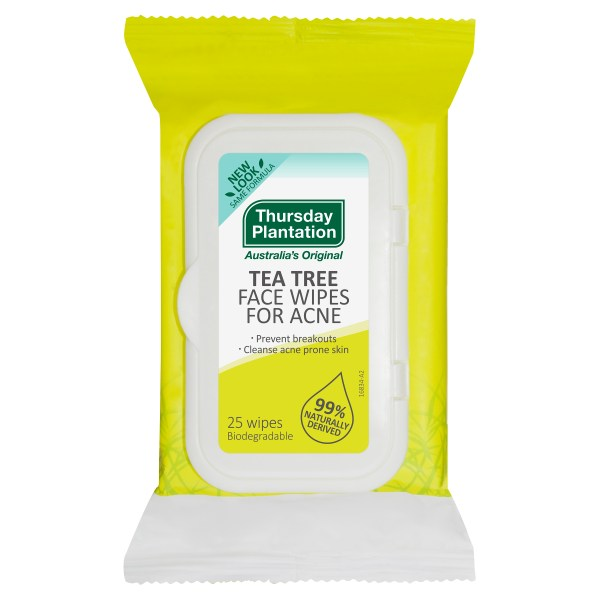 Thursday Plantation Tea Tree Face Wipes for Acne 25 Pack 3