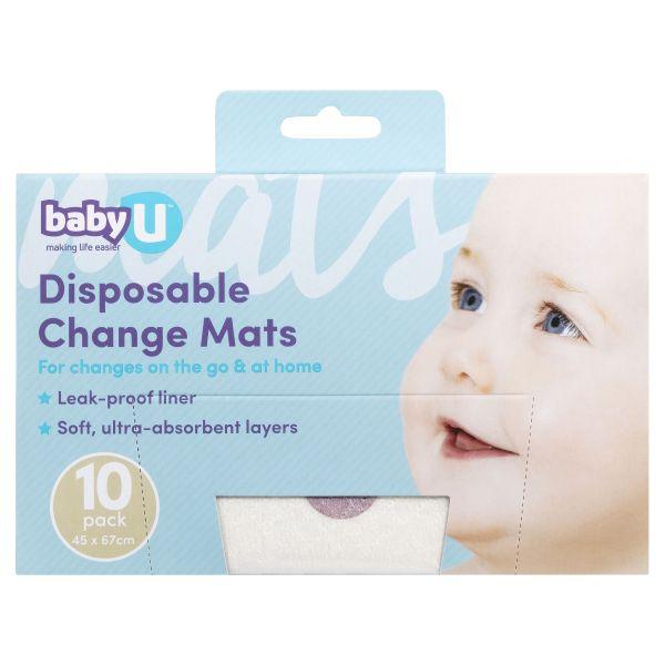 BabyU Disposable Change Mats 10 Pack