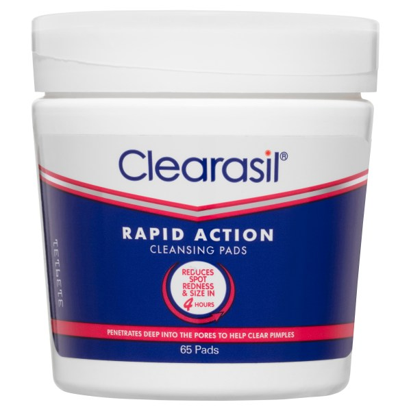 Clearasil Rapid Action Cleansing Pads 65 Pack 3