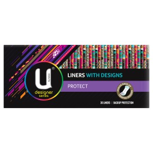 U by Kotex Protect Liners with Design 30 Pack
