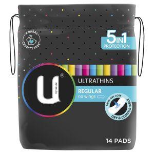 U by Kotex Regular Ultrathins Pads 14 Pack