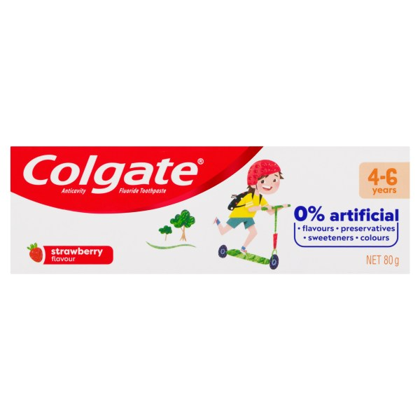 Colgate Kids Anticavity Fluoride Toothpaste 4-6 Years Strawberry Flavour 80g 4