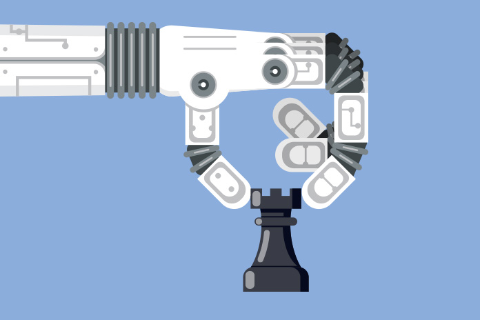 Image of a robotic hand moving a chess piece to show Lifting the lid on robotic process automation