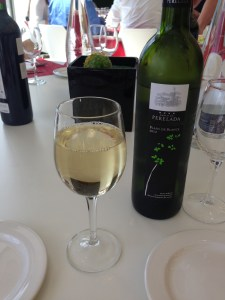 Wine at lunchtime - love it!