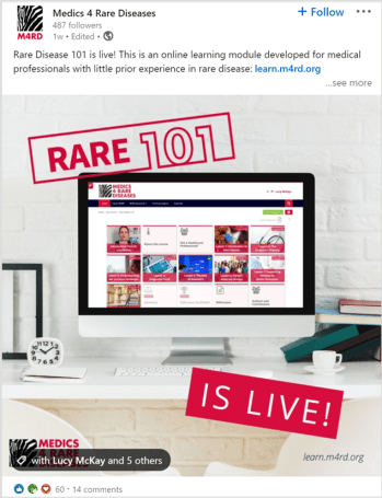 Rare disease Linkedin Post
