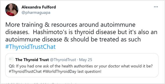 #ThyroidTrustChat tweet