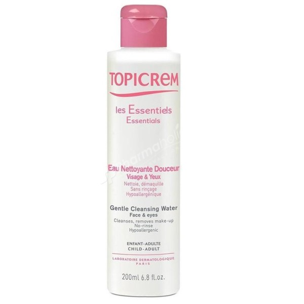 Topicrem Essentials Gentle Cleansing Water Face and Eyes