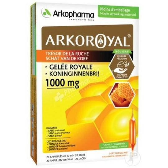 Arkopharma 100% Royal Jelly Orange/Honey Flavour 1000mg