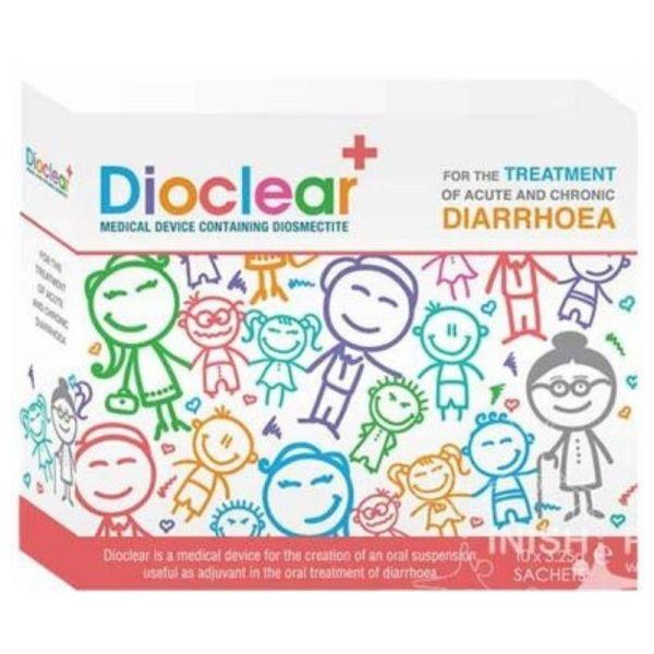 Dioclear+ Oral Treatment Of Acute, Chronic Diarrhoea 10x3.25g Sachets