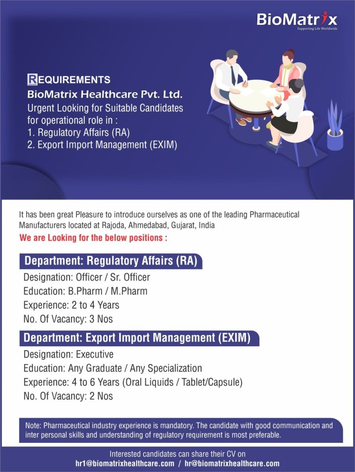 BioMatrix Healthcare Urgent Openings for Multiple Positions