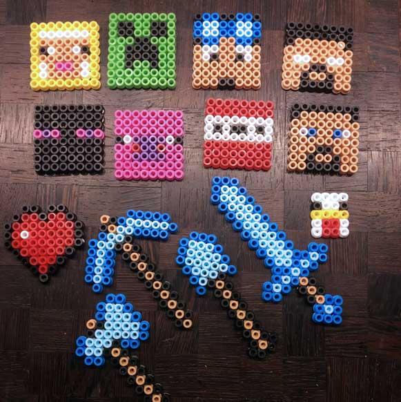 Minecraft Figuren Aus Bugelperlen Youtube