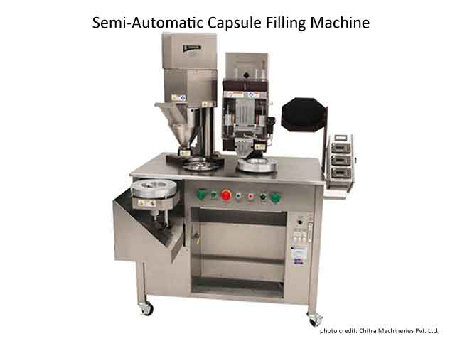 Encapsulators-Image of semi automatic capsule filling machine