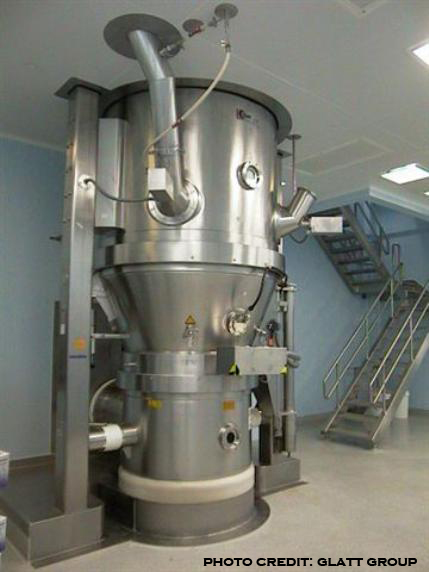 picture of a fluid bed granulator