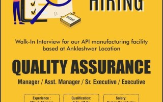 Rusan Pharma – Walk-In Interviews for Quality Assurance / Quality Control on 4th Apr' 2021