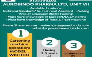 Aurobindo Pharma Ltd – What's App Call Interviews – Apply Now