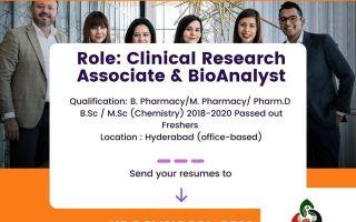 Clinosol Research – Hiring B.Pharm, M.Pharm, Pharm.D, B.Sc, M.Sc Freshers