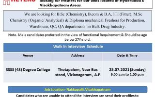 Hetero Labs – Freshers Walk-In Interview for Production / QC / QA / Warehouse on 25th July' 2021