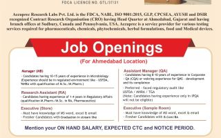 Accuprec Research Labs Pvt. Ltd®- Job Openings in QA / Regulatory Affairs / Microbiology / Store / Sample Room