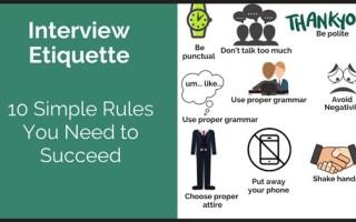 Etiquettes for a Job Interview