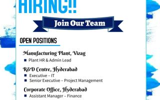 Innovare Labs Pvt. Ltd – Hiring for Plant HR / Admin / IT / Project Management / Finance – Apply Now