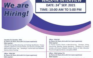 Ratnamani Healthcare Pvt. Ltd – Walk-In Interviews for IPQA / RA on 24th Sep' 2021