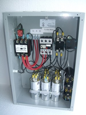 25Hp Gold series rotary phase converter control panel
