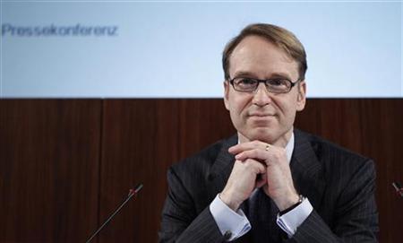 Deutsche Bundesbank President Weidmann attends the annual news conference in Frankfurt