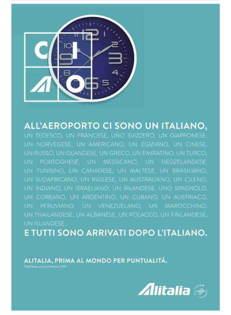 Alitalia puntuale