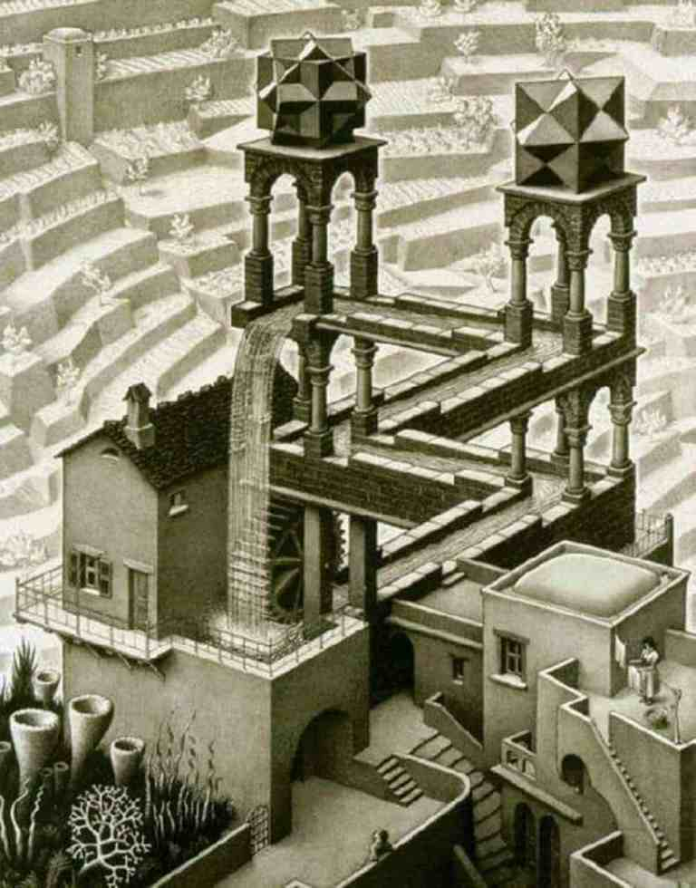 Escher Waterfall 1961 scaled