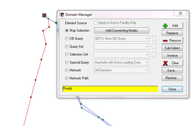 Figure 4. Use Domain Manager to take out links without nodes