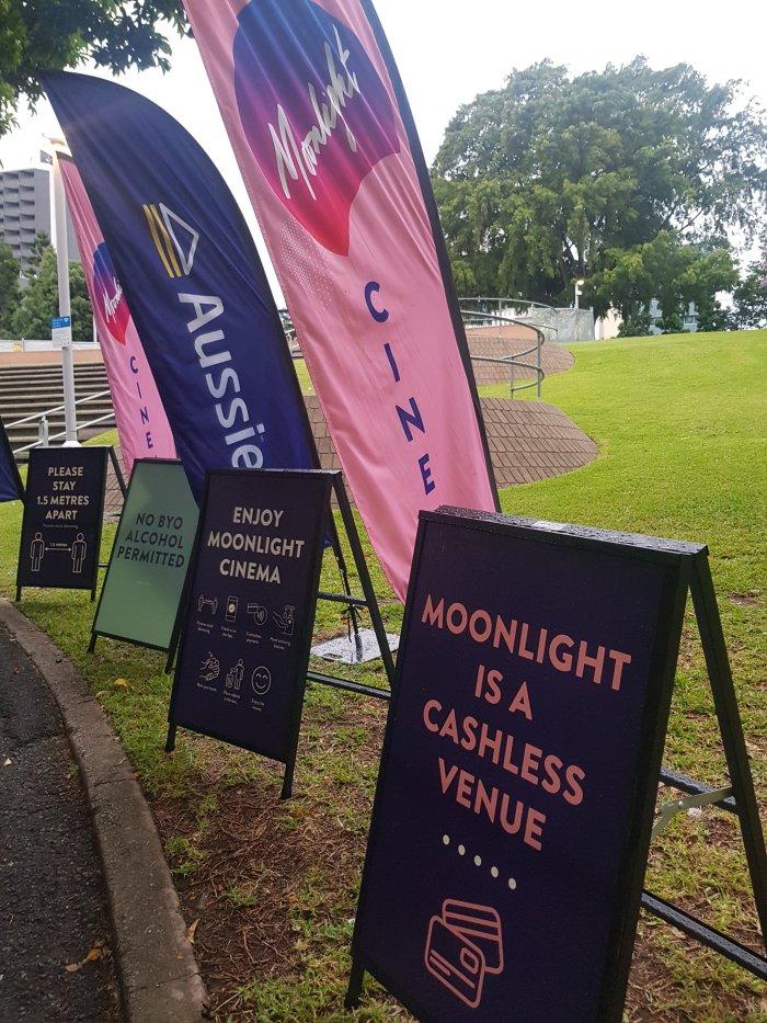 Moonlight cinema Brisbane, Outdoor movie theatre