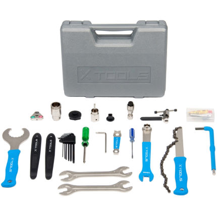 X-Tools-Bike-Tool-Kit-18-Piece-Silver-Blue-One-Size-Workshop-Tools-Silver-Blue-0