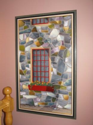 L'arbre (toile encadrée et installée); Philippe Bédard; acrylique sur toile