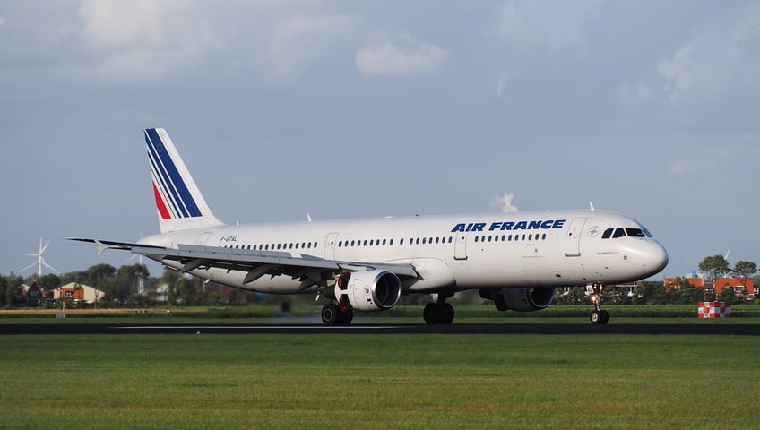 Air France A321-211 at Schiphol Airport